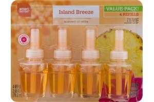 Smart Sense Scented Oil Refills Island Breeze - 4 CT