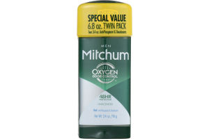 Mitchum Men Gel Anti-Perspirant & Deodorant Unscented Twin Pack - 2 CT