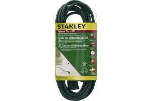 Stanley Power Cord 20 ft 16/3 Outdoor Extension Cord