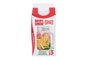 Йогурт-cмузи 2% апельсин-грейпфрут-зеленый чай Злагода к/у 280г