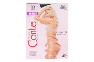 Колготи жіночі Conte Active Modelling 20den 2-S nero