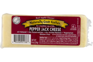 Red Apple Cheese Naturally Good Kosher Cheese Pepper Jack