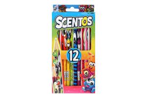 Набір олівців для дітей від 3років ароматних 12 кольорів №40515 Фантазія Scentos 1шт