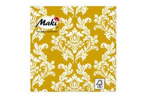 Салфетки Maki с рисунком бумажная 3-слойная M-15