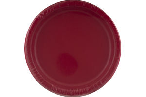 Smart Living Collection Classic Red Dinner Plates - 24 CT