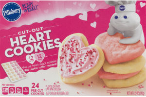 Pillsbury Ready To Bake! Cut-Out Heart Cookies - 24 CT