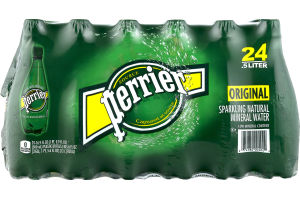 Perrier Sparkling Natural Mineral Water Original - 24 CT