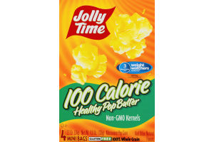 Jolly Time 100 Calorie Healthy Pop Butter Mini Bags - 4 CT