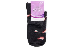 Шкарпетки Легка Хода жіночі 5362 р.25 т.-сірий/меланж