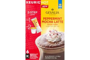 Gevalia Kaffe K-Cup Pods Espresso Coffee Peppermint Mocha Latte - 6 CT