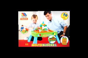 Набір ігровий з конструктором (20 елементів) у коробці (зелений) з елементом обертання