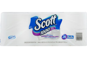 Scott Unscented Bathroom Tissue - 20 Rolls