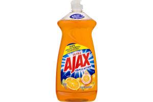 Ultra Ajax Triple Action Dish Liquid Hand Soap Orange