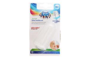 Зубна щітка дитяча масажна в контейнері 0 міс+ №56/159 Canpol babies 1шт
