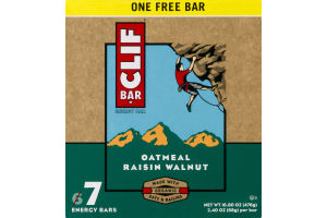 Clif Bar Energy Bar Oatmeal Raisin Walnut - 7 CT