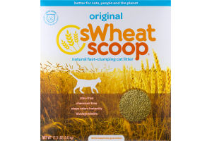 sWheat Scoop Natural Fast-Clumping Cat Litter Original