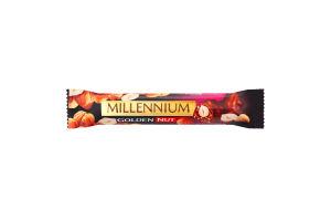 Шоколад чорний з начинкою та цілими горіхами Golden Nut Millennium м/у 40г