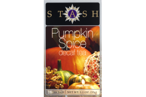 Stash Pumpkin Spice Decaf Tea Bags - 18 CT