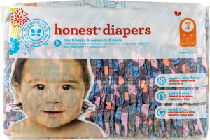 The Honest Co. Honest Diapers Butterfly Fields Size 3 - 34 CT