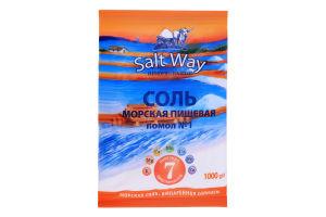 Сіль Salt Way Харчова натуральна морська сіль 1000г п/е