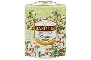 Чай зелений Біле чарівництво Букет Basilur з/б 100г