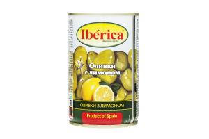 Оливки з лимоном Iberica з/б 300г