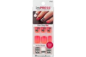 imPRESS Press-On Manicure One-Step Gel Night Fever - 30 CT