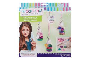 Набір іграшковий для дітей від 8років для створення чарівних кулонів №MR1305 Квітковий тераріум Make it Real 1шт