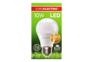 Лампа светодиодная LED 10W E27 4000K Euroelectric 1шт
