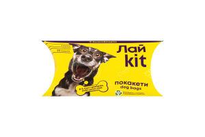 Лайkit Пакети для догляду за тваринами в картонному боксі 1*20 шт, жовтий, фіолетовий (55 шт/ящ)