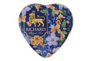 Чай чорний байховий листовий ароматизований Royal Heart Richard з/б 30г
