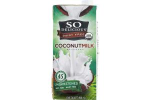 So Delicious Dairy Free Coconutmilk Beverage Unsweetened