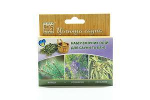 Набор эфирных масел для сауны и бани Целебная сауна Flora Secret 3х10мл
