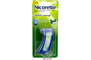 Nicorette 2mg Mini Lozenge Mint - 20 CT