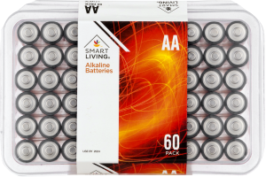 Smart Living Alkaline Batteries AA - 60 PK