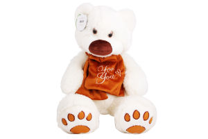 Іграшка для дітей від 3років №ВЕ-0074 Ведмедик Мемедик білий Tigres 1шт