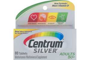 Centrum Silver Multivitamin/Multimineral Supplement Adults 50+ - 80 CT