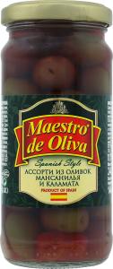 Оливки мансанілья і каламата асорті Spanish style Maestro de Oliva с/б 240г