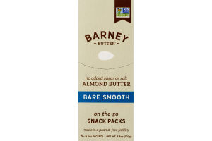 Barney Butter Almond on-the-go Snack Packs Bare Smooth - 6 PK
