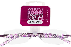 Foster Grants Non-Prescription Glasses Fashion +1.25 Daniella PRP