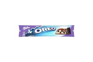 Баточик шоколадний зі шматочками печива Оpeo Мілка 37г