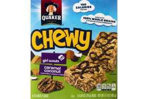 Quaker Chewy Granola Bars Girl Scouts Caramel Coconut - 8 CT