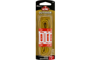 Kiwi Outdoor Laces Round Gold/Brown 72""