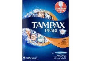 Tampax Pearl Tampons Super Plus - 18 CT