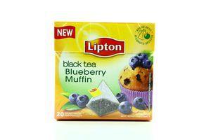 Чай черный с кусочками черники Blueberry Muffin Lipton 20х1.6г