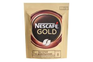 Кава натуральна розчинна сублімована Gold Nescafe д/п 120г