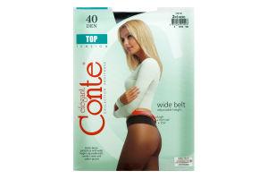 Колготи жіночі Conte Top 40den 2-S nero