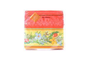 Серветки Luxy паперові Весняні квіти червона 33*33см 20шт