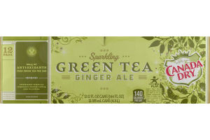 Canada Dry Sparkling Green Tea Ginger Ale - 12 PK