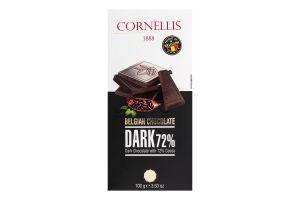 Шоколад чорний 72% 100г Корнеліс
